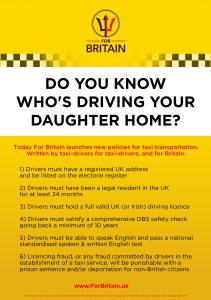 For Britain - Taxi Policy