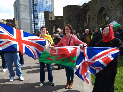 Anne Marie Waters barnstorms about Brexit at Swansea Castle